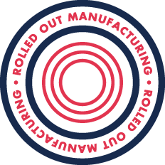 Rolled Out Manufacturing Emblem